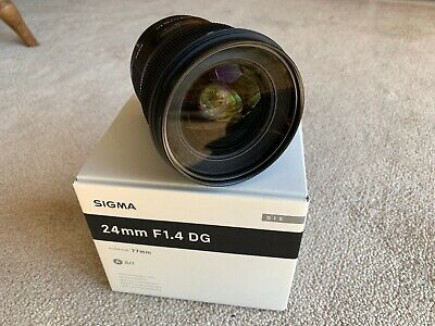 Sigma 24mm f/1.4 DG HSM Art Lens for Canon EF - Mint Condition