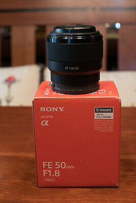 Sony FE 50mm F/1.8 E-Mount Lens With Lens Hood (SEL50F18F)