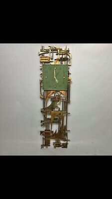 Mid Century Brutalist Paul Evans Style Wall Clock/Sculpture