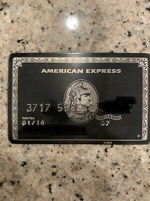 AUTHENTIC AMERICAN EXPRESS Amex Centurion Titanium Black Card