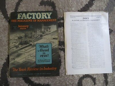 1926 FACTORY THE MAGAZINE OF MANAGEMENT INDUSTRY REVIEW TYCOS Fordson Yale