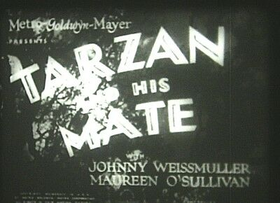 TARZAN AND HIS MATE (1934) 16mm film.  Johnny Weissmuller. Best Tarzan movie yet