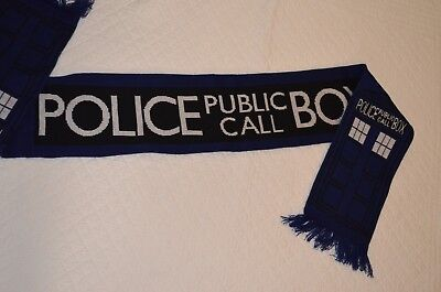 Doctor Who TARDIS Blue Scarf NEW CONDITION
