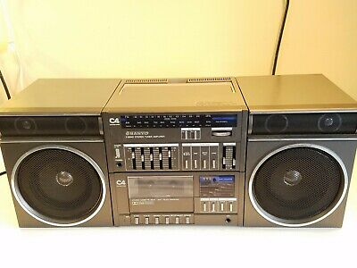 Vintage Sanyo C4R AM/FM Radio Cassette Tape Player Boombox -Tested Works