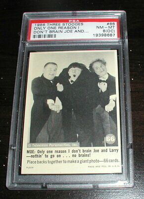 Rare 1966 Fleer The Three 3 Stooges Card #66-Professionally graded by PSA