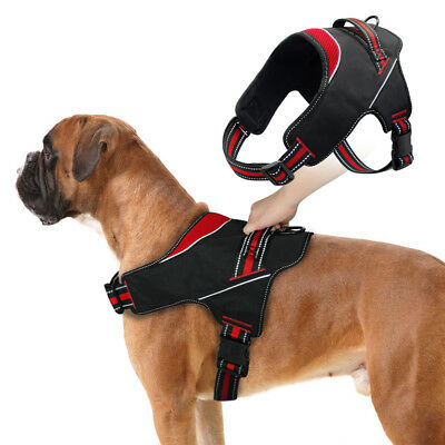 No Pull Adjustable Dog Pet Harness Reflective Durable Nylon with Padded Vest