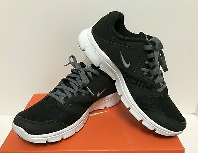19f3bcbd0cf1 NIKE Flex Experience 3 GS Athletic Running Shoes Sneaker Black Silver White  5Y