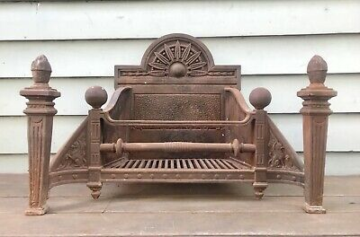 Antique 1850s Westgarthtown Melbourne Fireplace Basket Dragons William Morris