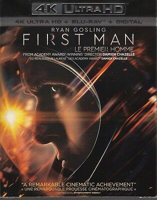 FIRST MAN 4K ULTRA HD & BLURAY & DIGITAL SET with Ryan Gosling & Claire Foy