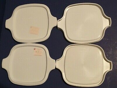 4 NEW Replacement PLASTIC LIDS For Corning Ware P-41 & P-43 Petite Dishes