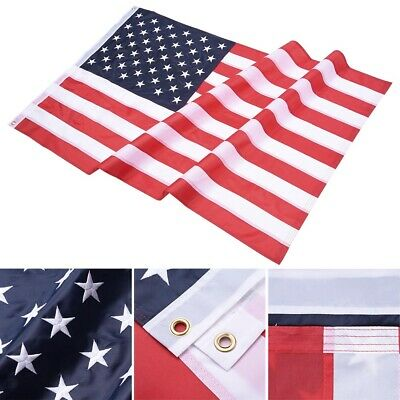 3x5 FT American Flag Oxford Embroidered Stars Sewn Stripes w/ Grommets US