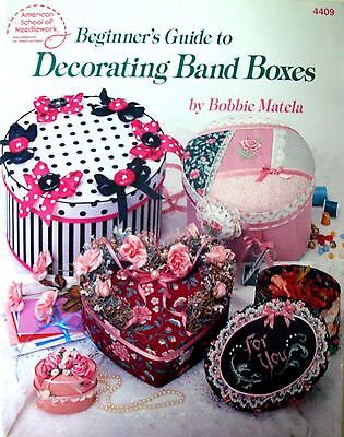 American School of Needlework - Beginner's Guide to DECORATING BAND BOXES - VGC