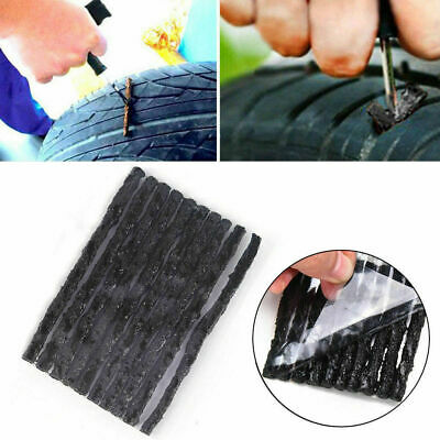 50Pcs Car Bike Tyre Tubeless Seal Strip Plug Tire Puncture Repair Recovery Set G