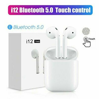 i12 TWS Bluetooth 5.0 Earphone Wireless Smart Touch Control Earbuds Auto-Pairing