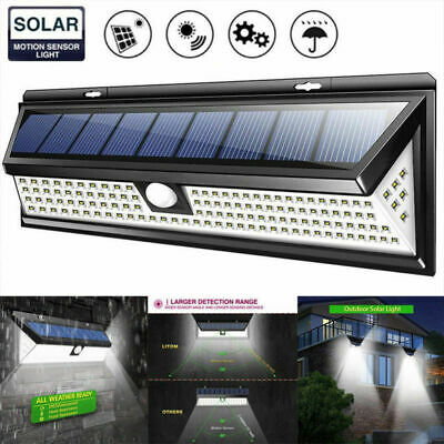 118 LED Solar Powered PIR Motion Sensor Wall Security Light Lamp Garden Outdoor