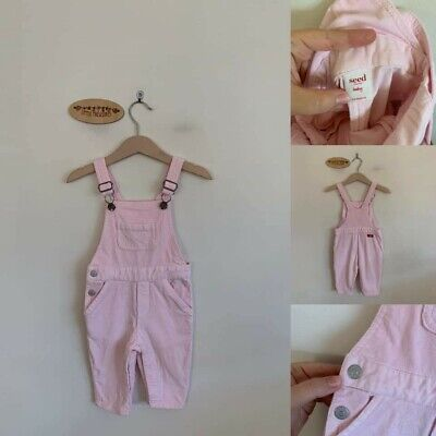 Sz 00 Seed pink cord overalls