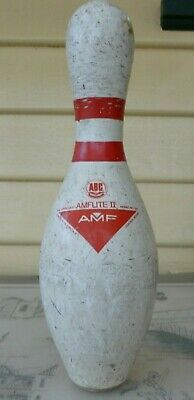 Ten Pin Bowling Pin. Amflite 11. Plenty Of Marks & Scratches, Needs Cleaning.