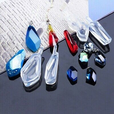 Crystal Silicone Mold DIY Making Mould Resin Tool for Necklace Pendant Jewelry