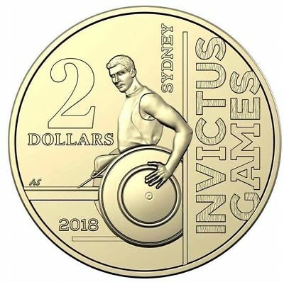 💥 2018 $2 Coin Invictus Games.💥   ⚡ UNC FROM MINT ROLL ⚡ NEW RELEASE.⭐