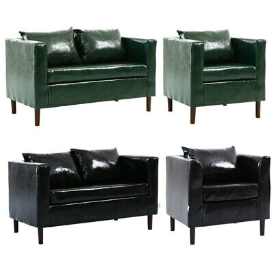 Upholstered PU Leather Armchair 1/2 Seater Sofa Settee Living Room Lounge Couch