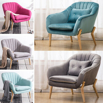 Occasional Upholstered Living Room Bedroom Armchair Shell Back Reception Chair