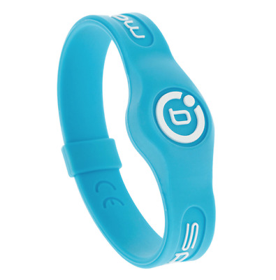 New Bioflow Sport Silicone Magnetic Therapy Wristband Aqua Size Small RRP £29.99