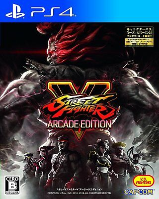 USED PS4 STREET FIGHTER V ARCADE EDITION JAPAN Sony PlayStation 4 import game