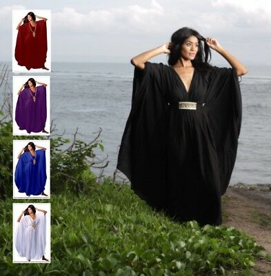 Boho Caftan Dress - Gown Butterfly V-Neck - Women Plus Sizes Z468 LotusTraders