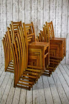 Job Lot of 14 Vintage Industrial Chapel Stacking Cafe Bar Chairs (PRICE INC VAT)
