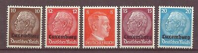 Luxembourg, World War Two Occupation by Germany, MH, MNH, 1940 OLD