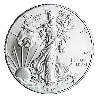 2014 1 oz Silver American Eagle Coin - Brilliant Uncirculated