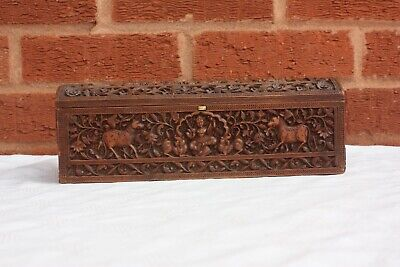 19th Century Anglo Indian Burmese Sandalwood Box
