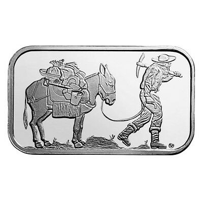 1 oz SilverTowne Retro Prospector Silver Bar (New)