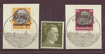 Luxembourg, WWII 3rd Reich Occupation by Germany, Postmarks, 1940, OLD