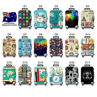 "Luggage / Suitcase Protective Cover 34 Designs 18-30"" Size Anti-dust & Scratch"