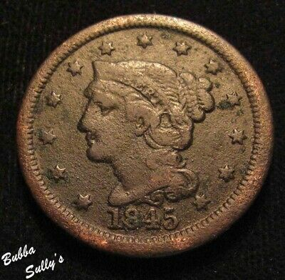 1845 Braided Hair Large Cent <> VG Details