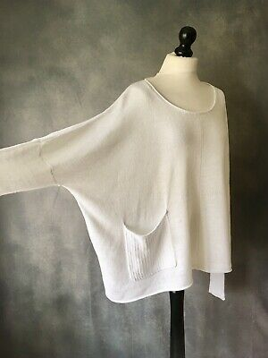 "VETONO Fab Spring Essential Cotton Knit Oversized Jumper OSFA 70"" Chest"