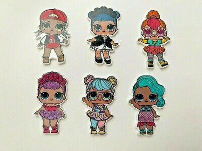 L.O.L Surprise Dolls LOL Planar Flatback Resins Craft Hair Jewellery set of 6 pc