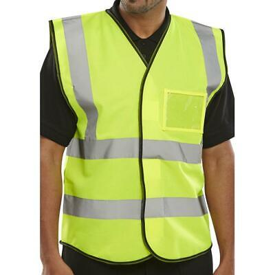 BSeen High Visibility ID Vest En20471 4XL Saturn Yellow BD108SYXXXXL [Pack 10]