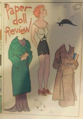 Blondie Sunday by Chic Young from 11/4/1934 Rare Paper Doll Full Page Size !