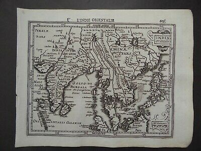 1608 HONDIUS  Mercator Atlas map  INDIA ORIENTALIS - EAST INDIES - Philippines