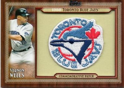 2011 Topps Commemorative Patch TLPM-VW Vernon Wells
