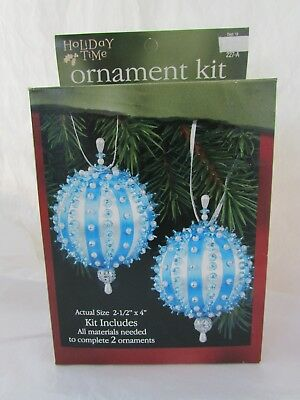 Sulyn Industries Ice Queen Holiday Time Blue Beaded Ball Ornament Kit