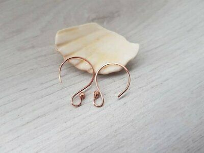 Solid Copper Balled Circle Ear Wires | HANDMADE TO ORDER | 5/10/20 Pairs | HALO