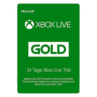 Xbox Live GOLD (GLOBAL) Trial Mitgliedschaft 14 Tagen (2 weeks) INSTANT DELIVERY