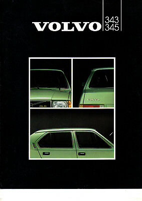 Depliant brochure catalogue VOLVO 343 345