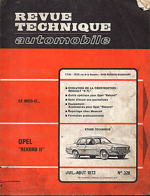 RTA revue technique automobile N° 326 OPEL REKORD II 2