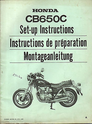 Instruction de preparation HONDA CB650C CB 650 C