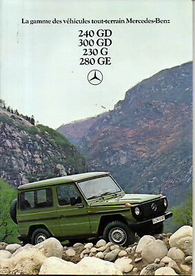 catalogue MERCEDES 240 300 230 280 GD G GE francais
