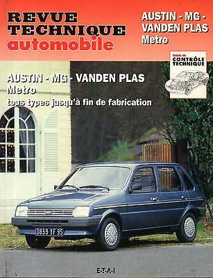 RTA revue technique automobile AUSTIN MG VANDEN PLAS METRO